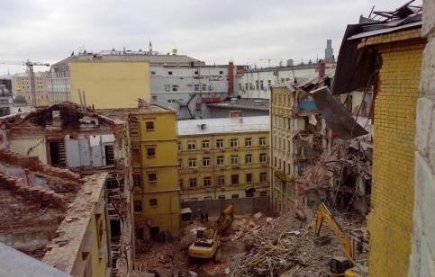 Снос Домов Привалова на Садовнической улице. Январь 2015 года.