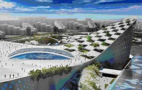 Планируемый проект здания на месте парка на Ходынке