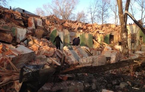 Руины дома Стройбюров в Королёве