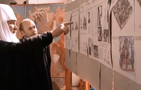 Кадр из видео Московско патриархии. 2011 год.