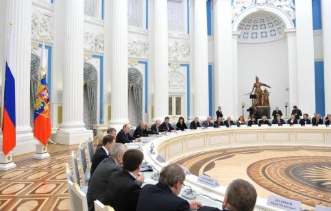 Фото: kremlin.ru/ Заседание Совета при Президенте по культуре и искусству