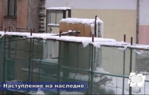 """Кадр из анонса программы """"Наступление на наследие"""" про город Санкт-Петербург"""